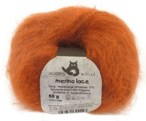 Schoppel-Wolle MERINO LACE 0891 autumn-orange